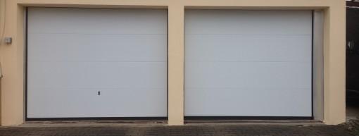 Garagensektionaltor in Grau